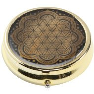 Flower of Life Black - Pillbox